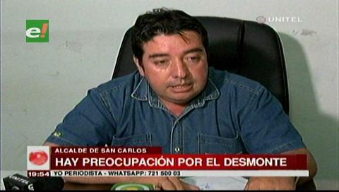 Alcalde de San Carlos preocupado por el desmonte en su municipio