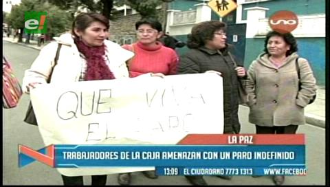 Los trabajadores de la CNS amenazan con paro indefinido
