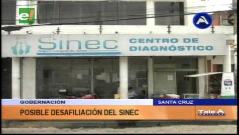 Gobernación cruceña solicita al Sinec su desafiliación y desalojo del edificio