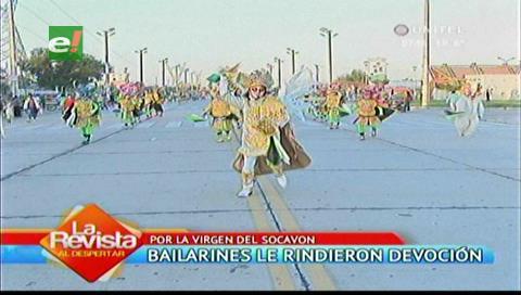 Entrada folclórica: Bailaron en devoción a la Virgen del Socavón