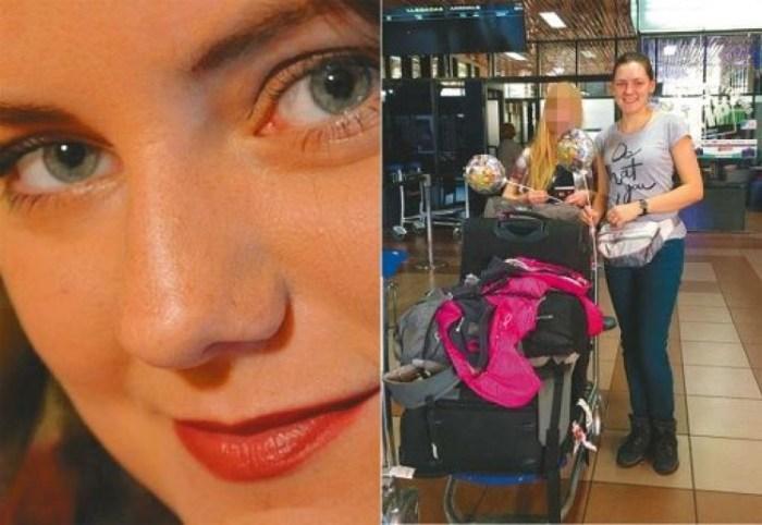 Helen Kmice (26) cuando llegó el 9 de enero al aeropuerto Jorge Wilstermann de Cochabamba