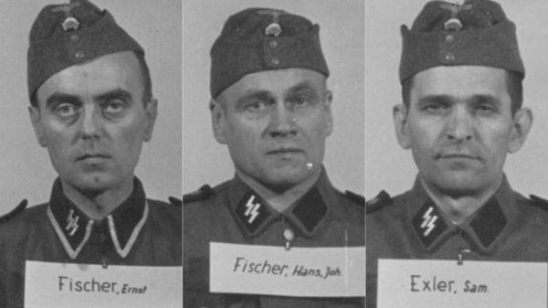 Ernst Fischer, un farmacéutico alemán proveniente de los Sudetes checoslovacos; Hans Fischer, un granjero que llegó a cabo de las SS en 1944; Samuel Exler, un granjero húngaro que se enlistó en el ejército de su país y solicitó luego ingresar en las SS