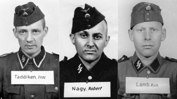 Fritz Taddiken llegó a jefe de pelotón en 1944; Robert Nagy, yugoeslavo de origen húngaro; Richard Lamb , un minero