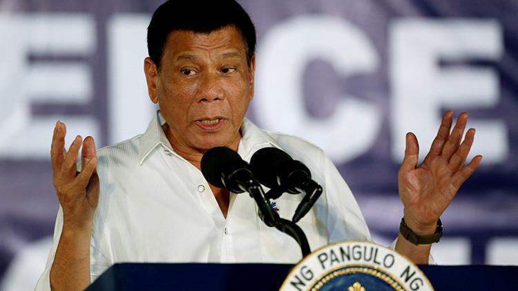 Filipinas: Duterte dijo que