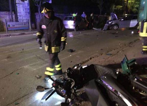 Así quedó la moto de Roberta Smargiassi tras el accidente