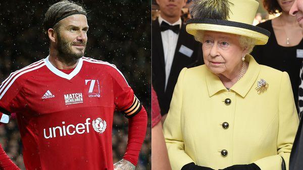 David Beckham es embajador de Unicef. La Reina evitó el bochorno de haber nombrado Sir David al futbolista (Getty)