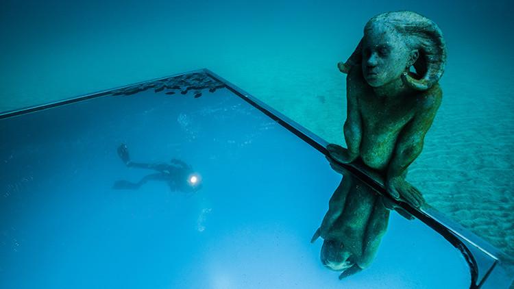 Arte bajo el mar: el Museo Atlántico de Lanzarote muestra 300 esculturas submarinas (FOTOS)