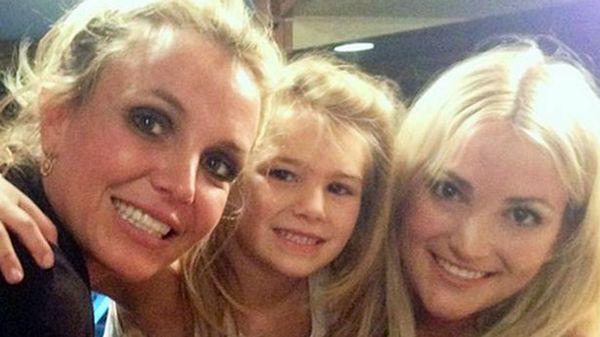 Britney Spears con su hermana y su sobrina, Maddie