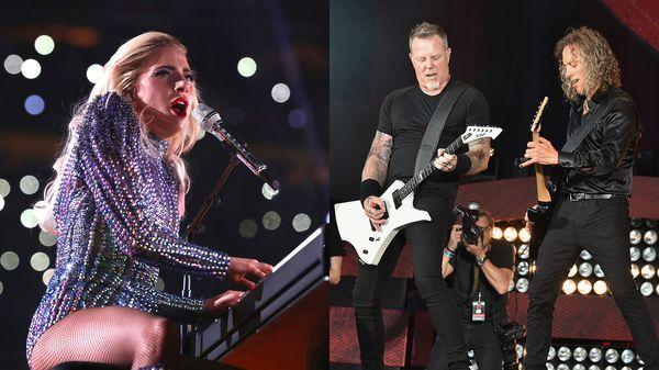 (Getty Images) Lady Gaga y Metallica juntos en los Grammys 2017