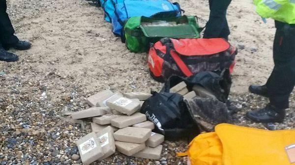 Los bolsos de viaje fueron encontradas llenos de cocaína