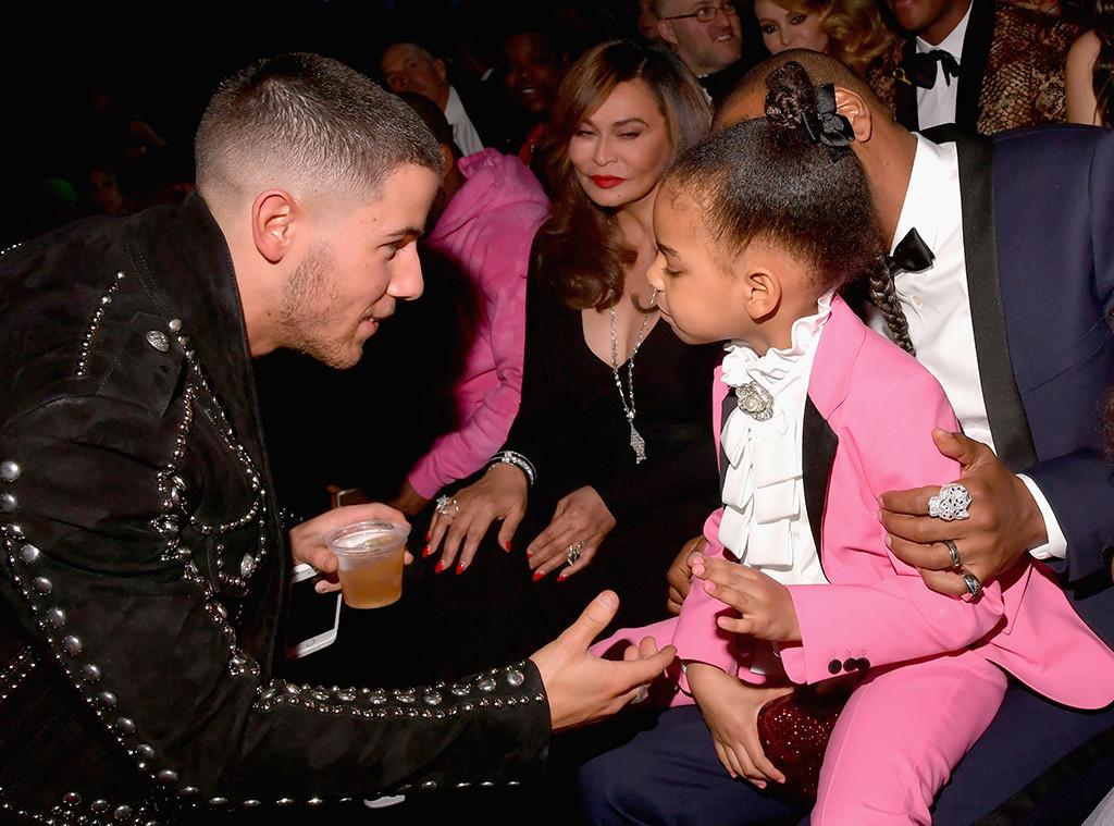 Nick Jonas, Blue Ivy Carter, 2017 Grammys, Candids