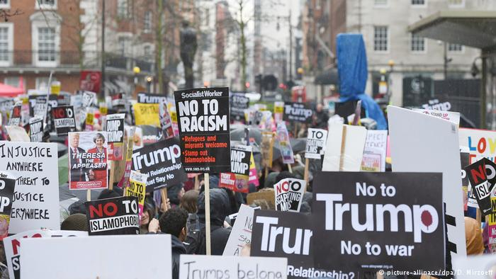Anti-Trump-Demo in London (picture-allinace/dpa/D. Mirzoeff)