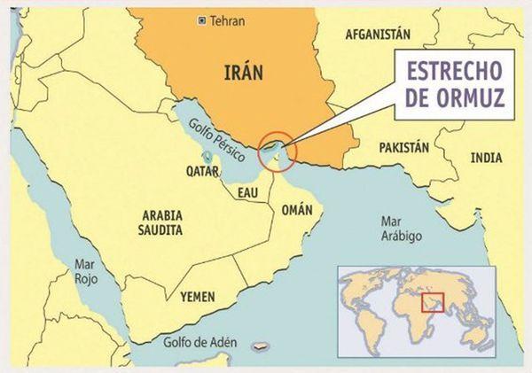 El Estrecho de Ormuz es estratégico para el comercio global con los puertos el Golfo de Pérsico