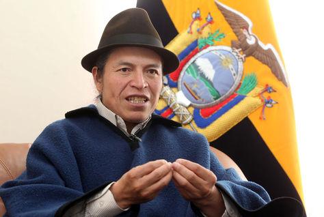 El embajador ecuatoriano en Bolivia, Ricardo Ulcuango. Foto: www.elciudadano.gob.ec