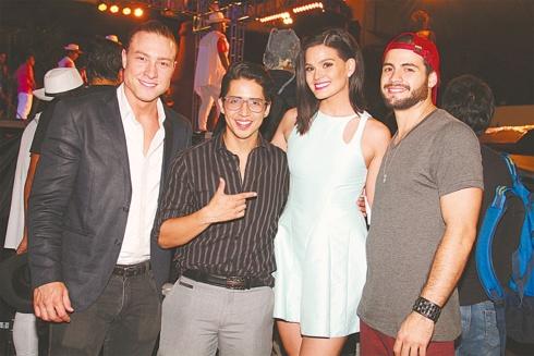 Team Bigote. Sebastián Putz, Carlos Marquina, 'Elu' Gonzales y Ezequiel Bazán. Faltó Gabriela Zegarra (está en Colombia)