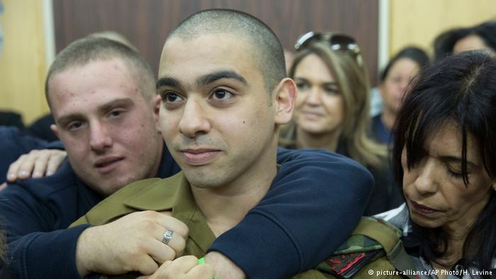 Elor Azaria fue hallado culpable por la justicia israelí el mes pasado. (picture-alliance/AP Photo/H. Levine)