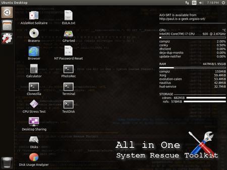 Screenshot Livecd 768x576