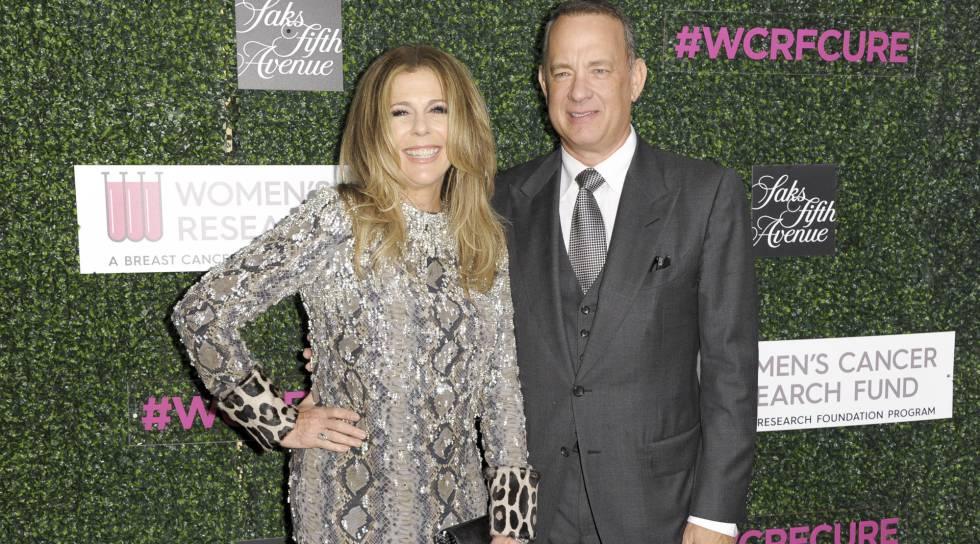 El actor con su esposa Rita Wilson.