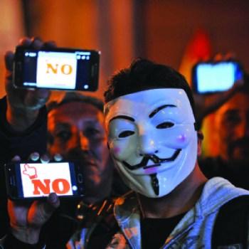 Líderes del No afirman que es el inicio de la lucha contra el poder
