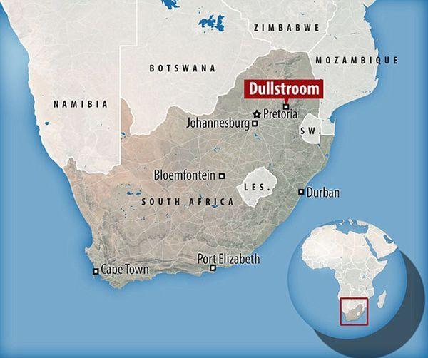 La pareja vivía en una finca llamada Marshlandin, en Dullstroom