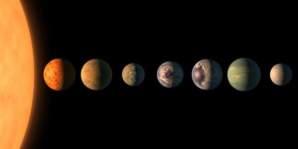 The TRAPPIST-1 star, an ultracool dwarf, is orbited by seven Earth-size planets. MUST CREDIT: NASA/JPL-Caltech handout illustration