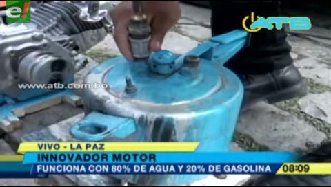 Jóvenes diseñan un motor que funciona con agua y gasolina