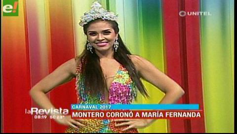 Montero coronó a su reina del carnaval 2017