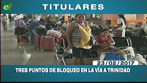 Video titulares de noticias de TV – Bolivia, mediodía del jueves 23 de febrero de 2017