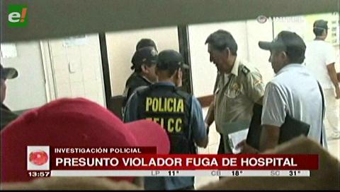 Acusado de violación escapó del hospital