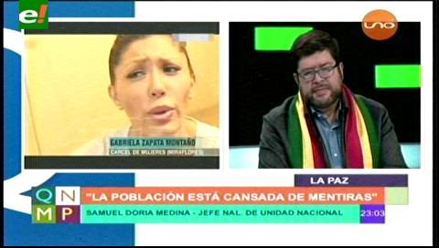 Doria Medina: «Es una estupidez lo que difundieron el domingo»