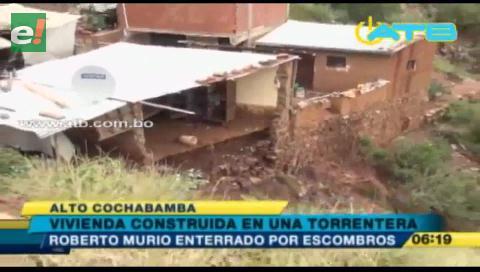 Anciano murió enterrado en su vivienda en Cochabamba