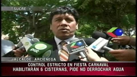 Sucre: Alcalde habilitará cisternas en carnaval