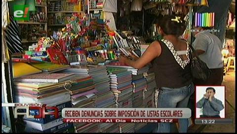 Defensa al Consumidor recibió denuncias sobre imposición de listas escolares