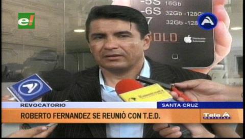 Roberto Fernández pedirá referéndum revocatorio para los concejales