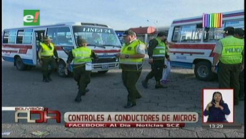 Santa Cruz: Tránsito efectuó controles a micros en sus paradas