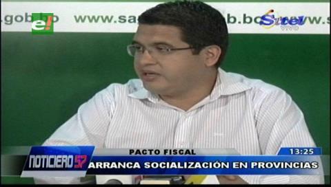 En la provincia Velasco arranca la socialización del Pacto Fiscal