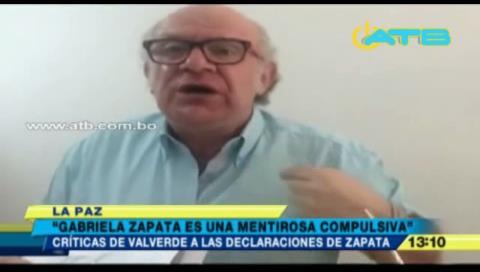 """Carlos Valverde: """"Gabriela Zapata es una mentirosa compulsiva"""""""