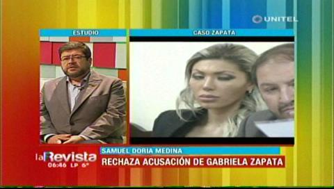 Doria Medina dice que al Gobierno de Evo 'le salió el tiro por la culata'