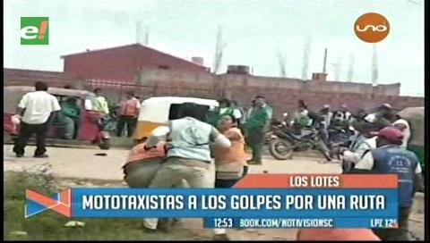 Los Lotes: Mototaxistas se disputan una ruta a golpes
