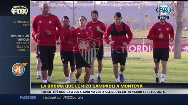 Mira la broma que hizo Sampaoli a Montoya