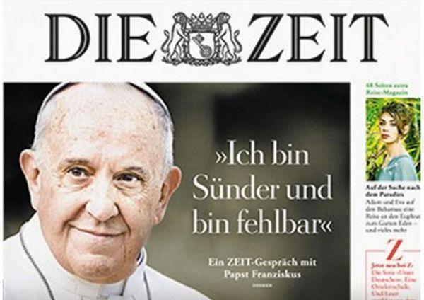 <<Soy pecador y soy falible/>>, la tapa del periódico alemán Die Zeit