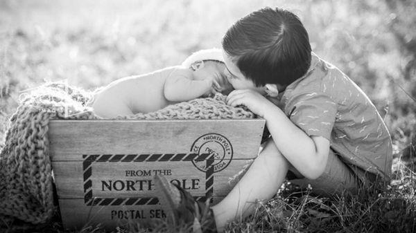 En su Instagram, la mujer publica fotos de sus hijos, que reconoce como los últimos recuerdos que tendrá con su recién nacido