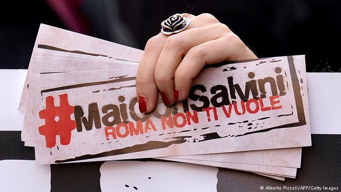 Italien Rom Demonstration Renzi Salvini (Alberto Pizzoli/AFP/Getty Images)