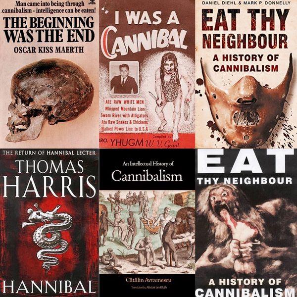 Distintas publicaciones centradas en la temática del canibalismo, desde novelas hasta repasos históricos, evidencia de una práctica que ha generado repulsión e interés a lo largo de los siglos