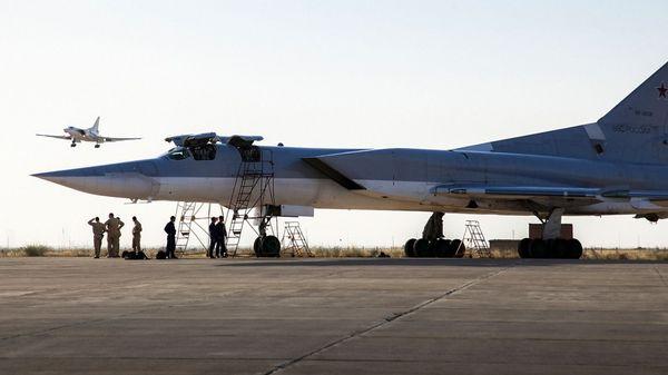 Bombarderos supersónicos Tu-22M, de la Fuerza Aérea rusa, durante operaciones en apoyo del gobierno de Bashar al Assad en Siria (AP)