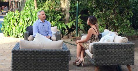 El vicepresidente Álvaro García Linera durabte la entrevista que concedió a la red ATB. Foto: @VPEP_Bol