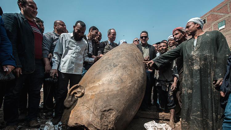 Confusión faraónica: la enorme estatua hallada en Egipto no es de Ramsés II (FOTO, VIDEO)