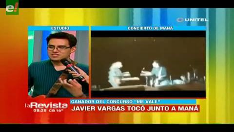 Javier Vargas pudo tocar junto a Maná en La Paz