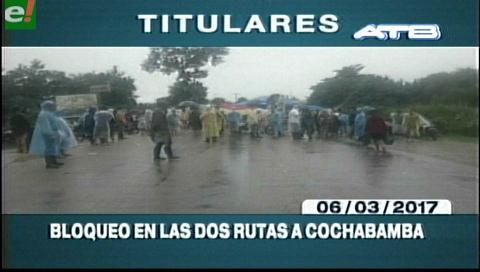 Video titulares de noticias de TV – Bolivia, mediodía del lunes 6 de marzo de 2017