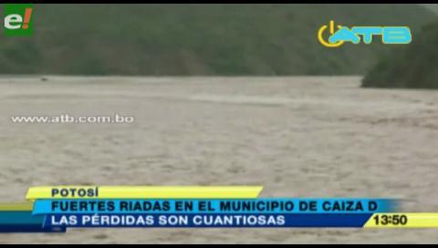 Potosí. Riadas acabaron con el 70% de los cultivos en Caiza